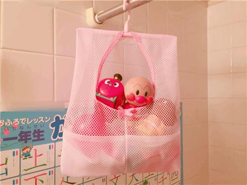 お風呂のおもちゃの収納ネットが100均であったのでカビ対策に購入してみた