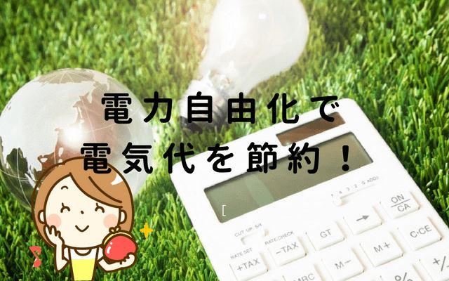 電力自由化で電気代が安くなる!年間1万円以上節約できて手続きも簡単!