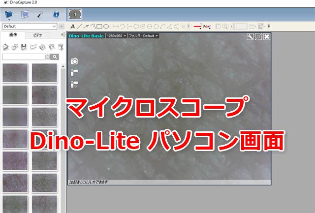 マイクロスコープDino-Liteパソコン画面